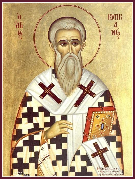 Когда Киприану стало интересно, что противостоит его магии, Иустина обратила его в христианство.